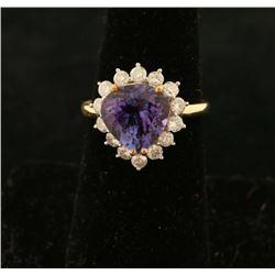 Beautiful Ladies Tanzanite & Diamond Ring