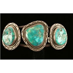 Native American Turquoise & Sterling Cuff