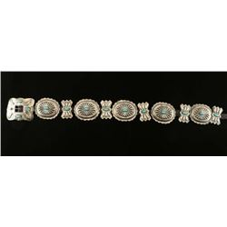 Full Size Old Pawn Turquoise & Silver Concho Belt