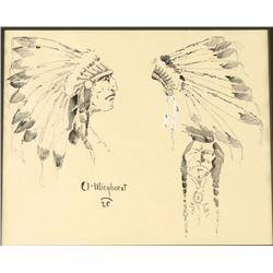 Original Watercolor & Ink by Olaf Wieghorst