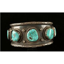 Old Pawn Turquoise & Sterling Cuff