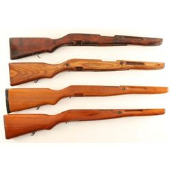 Lot of 4 SKS Wood Stocks