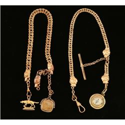 Lot of 2 Watch Fob Chains