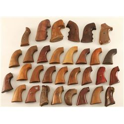Large Lot of Wooden Grips