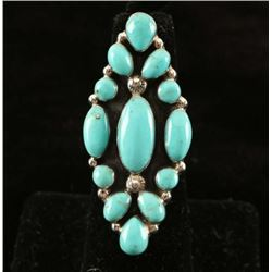 Native American Turquoise & Sterling Ring