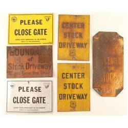 Lot of 6 Antique Signs