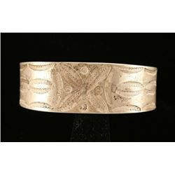 Old Pawn Hammered Silver Cuff Bracelet