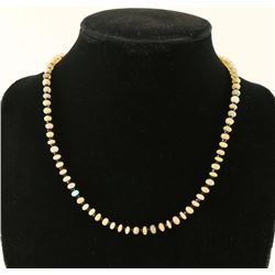 Opal Black Spinel Bead Necklace