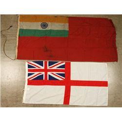 India Flag & White Ensign Flag