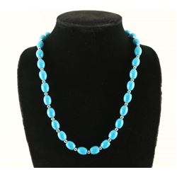 Native American Turquoise Silver Necklace