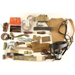 Lot of Miltary Belts and Slings