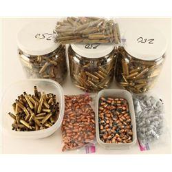 Large Lot of Brass & Bullets