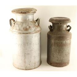 Lot of 2 Milk Cans