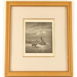 Etching of Sailboat