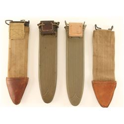 Lot of 5 Military Type Knife Scabbards