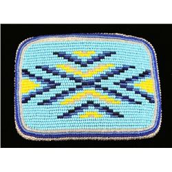 Seed Beaded Buckskin Belt Buckle