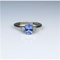 Charming Classic Tanzanite & Diamond Ring