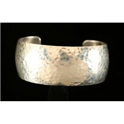 Hammered Sterling Navajo Cuff