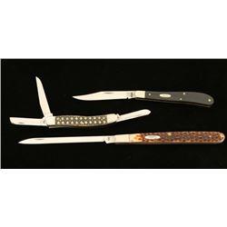 Lot of 3 Case Knives