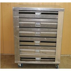 Custom Made Stainless Steel Showcase Rolling Rack
