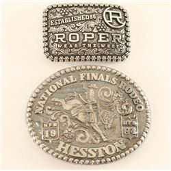 Lot of 2 Rodeo Belt Buckles