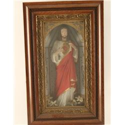 Framed Figurine of Jesus