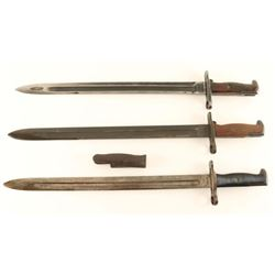 Lot of 3 US Bayonets