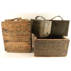 Lot of Ammo Cans & Ammo Crates