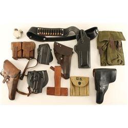 Gun Leather & Webbing Lot