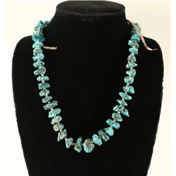 Turquoise Nugget & Shell Heishi Necklace