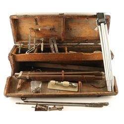 Wooden Box with 2 Tripods