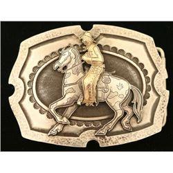 Kit Carson Sterling & 14K Marked Belt Buckle