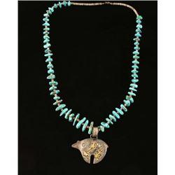 Thomas Singer Pendant & Turquoise Necklace