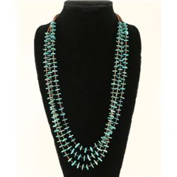 Old Pawn Turquoise Chip Heishi Shell Necklace