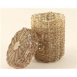 Woven Silver Wire Basked