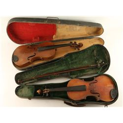 Collection of 2 Stradivarius Violins