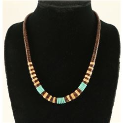 Native American Turquoise Shell Necklace