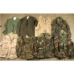 Misc Lot of Army and Marine Corps Uniforms