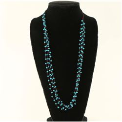 Four Strand Turquoise Bead Indian Necklace