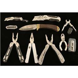 Lot of Pocket Knives & Utility Sets