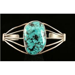 Native American Turquoise Sterling 5 Wire Cuff