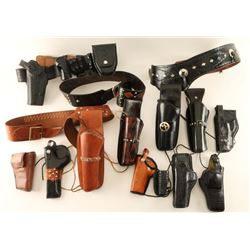 Large Lot of Gun Leather
