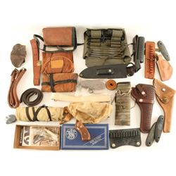 Lot of Gun Leather & Slings