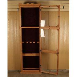 Rustic Wooden Rifle & Pistol Cabinet