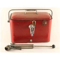 Vintage Picnic Beer Keg Cooler