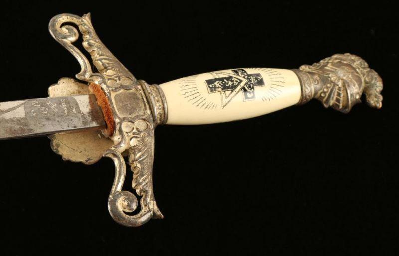 Vintage Masonic Knights Templar Ceremonial Sword