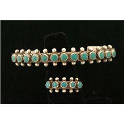 Turquoise & Sterling Ring & Bracelet