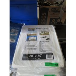 Western Rugged White Tarp - 20 Feet x 40 Feet