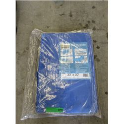 Western Rugged Blue Tarp - 20 Feet x 20 Feet