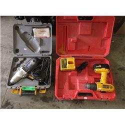 DeWalt Cordless Drill & Mastercraft Electric Drill
